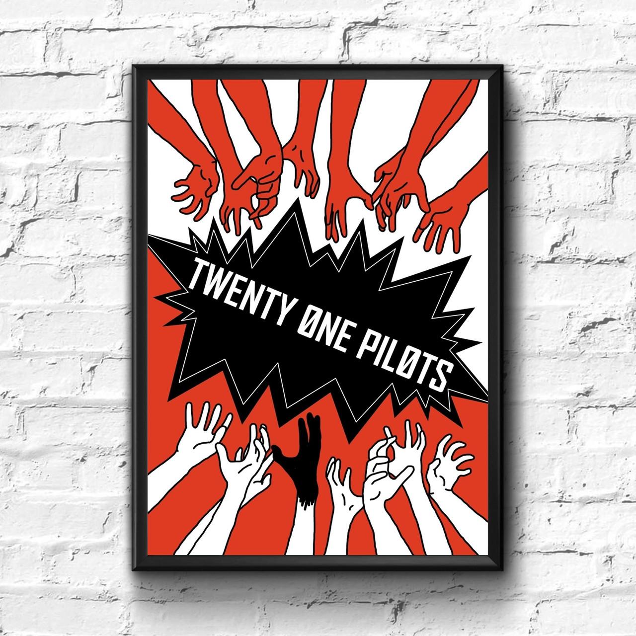 Постер с рамкой Twenty One Pilots #4