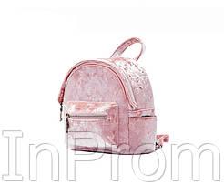 Рюкзак Yvonne Velours Mini Pink, фото 2