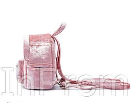 Рюкзак Yvonne Velours Mini Pink, фото 3