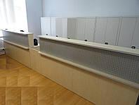 Длинная стойка ресепшн в магазин. Офисная мебель под заказ в Киеве (R-45)