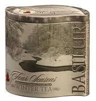 """Чай """"Basilur"""" Базилур """"Лист"""" Зимний, 125г ж/б"""