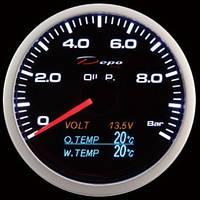 DEPO 4в1 давление масла, темп. масла и жидкости, вольтметр
