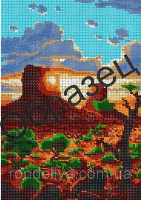 Схема для вишивки бісером «На заході сонця»
