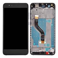 Дисплей (экран) для Huawei P10 Lite (WAS-LX1/LX2/LX3) + тачскрин, черный, с передней панелью серого цвета