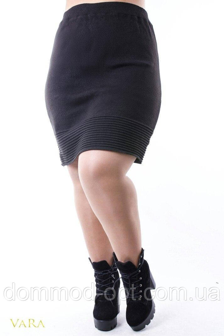 Женская теплая юбка из шерсти 0054 (р.52-56)
