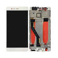 Дисплей (экран) для Huawei P9 Plus (VIE-L09/VIE-L29) + тачскрин, белый, с передней панелью