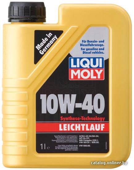 LIQUI MOLY Leichtlauf SAE 10W-40  1л.