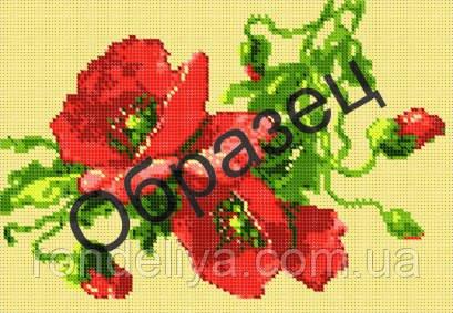 Схема для вышивки бисером «Маки»