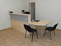 Стойка ресепшн (стол ресепшн) со стеллажами. Офисная мебель готовая(R-71)