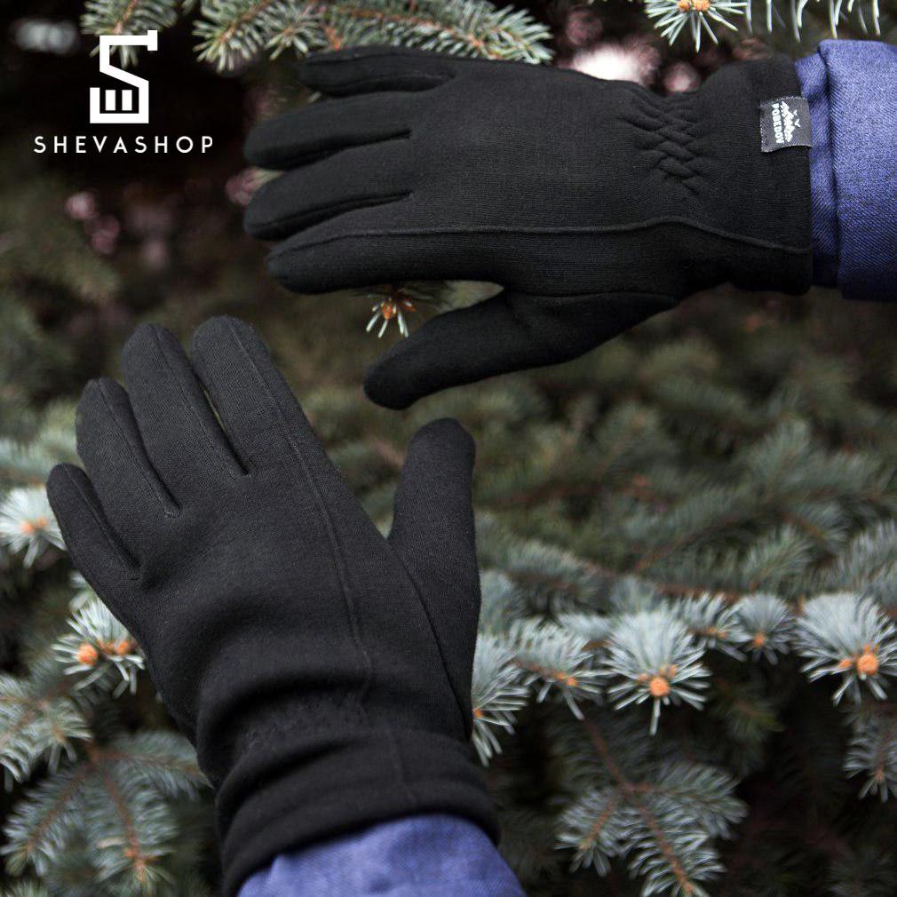 Перчатки микрофлис Pobedov Solidnye черные