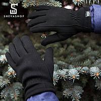 Перчатки микрофлис Pobedov Solidnye черные, фото 1