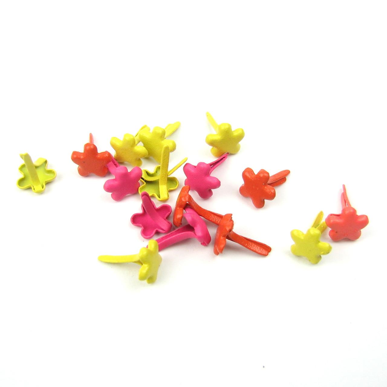 Брадсы цветочки для рукоделия 6мм микс 10шт в наборе