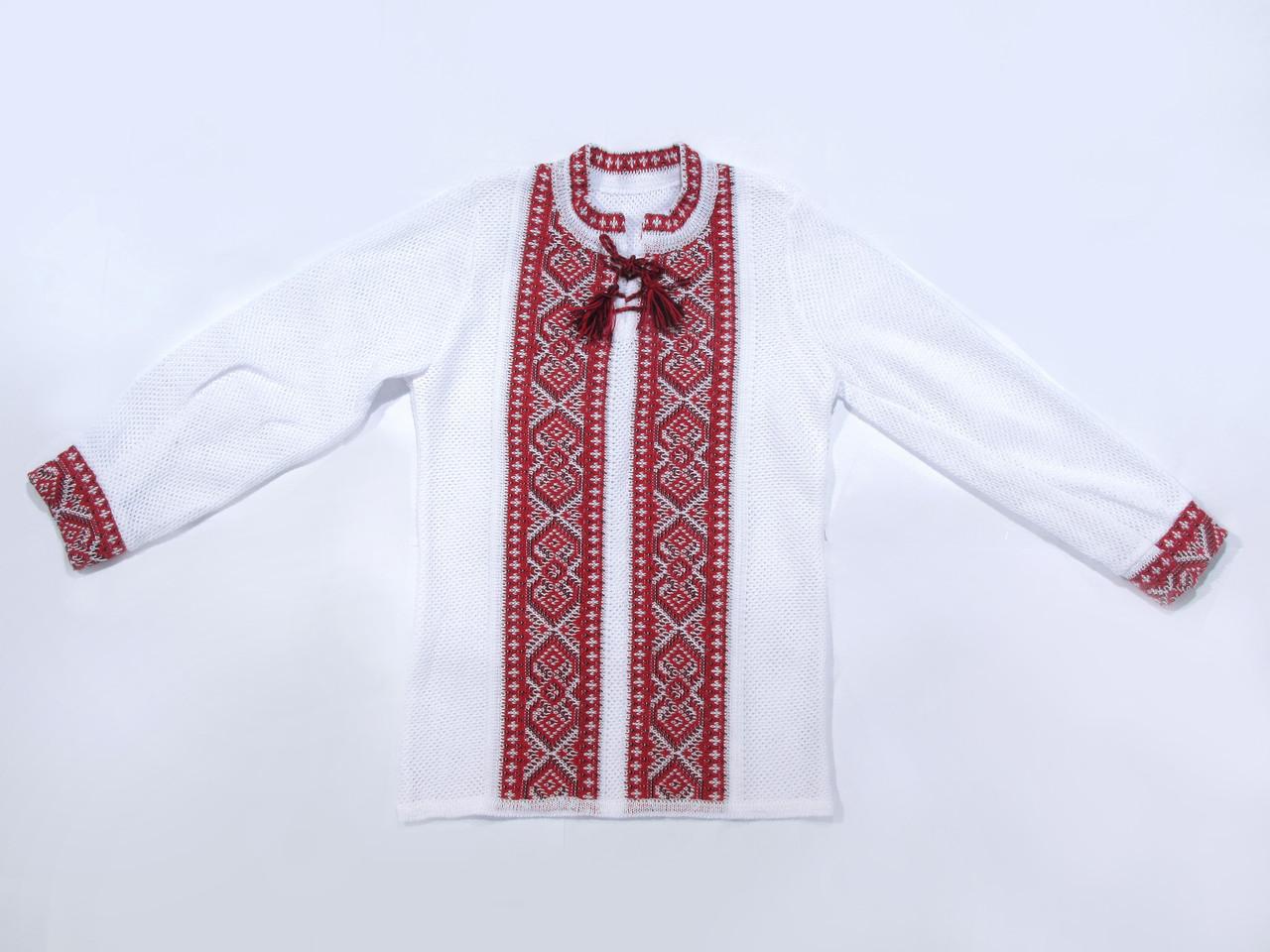 Вишиванка для хлопчика Хрестики червоні (х/б)