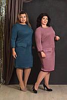 Платье Батал Adina Style Розелин 9000-карман