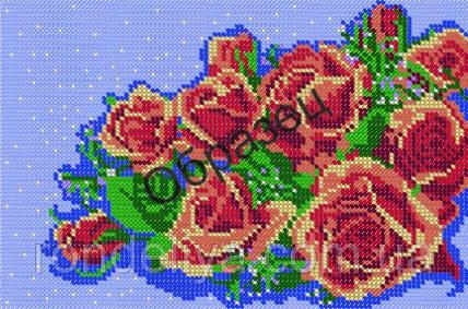 Схема для вишивки бісером «Букет троянд»