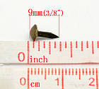 Брадсы для рукоделия 5мм бронзовые 25шт в наборе, фото 3