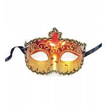 Карнавальная праздничная маска красная