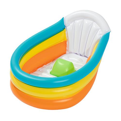 BestWay 51134 Надувной бассейн детский 3 кольца (76х48х33 см)