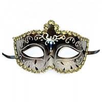 Венецианская маска черная мужская