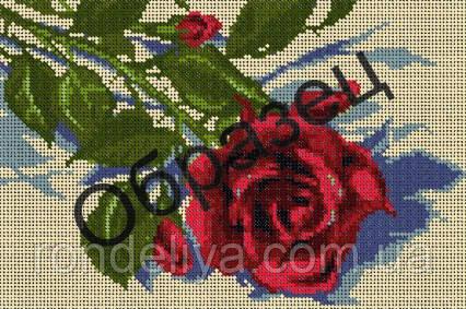 Схема для вышивки бисером «Красная роза»