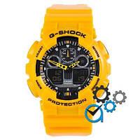 Наручные часы Casio G-Shock GA-100 Yellow Glossy Yellow
