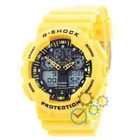 Наручные часы Casio G-Shock GA-100 Yellow-Black