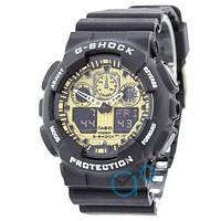 Наручные часы Casio G-Shock GA-100 Black-Gold