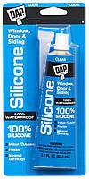 Силиконовый герметик для окон, дверей и сайдинга 100% Window&Door Silicone Sealant 82.6ml тюбик ПРОЗРАЧНЫЙ