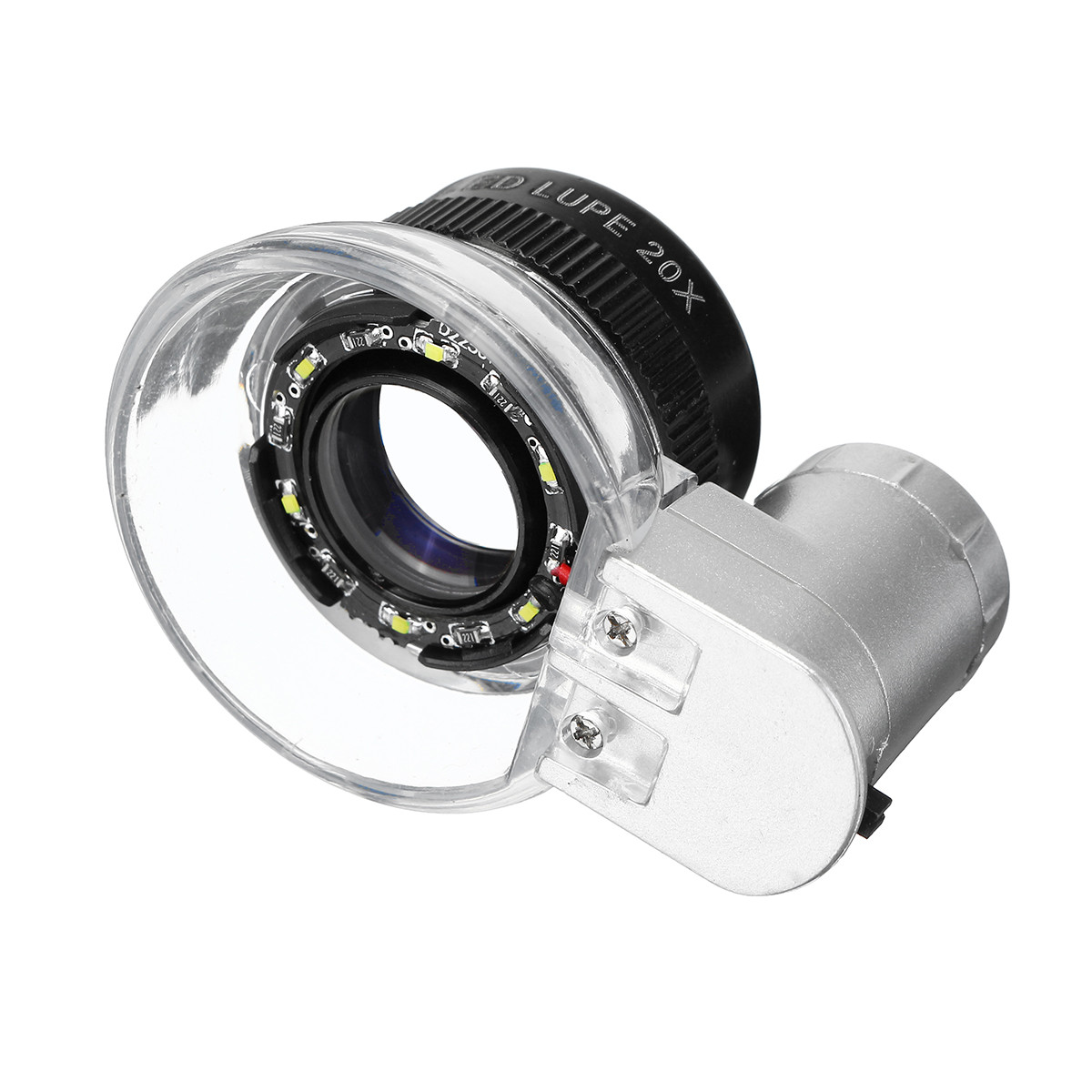 20X Magnifier Magnifier LED Loupe Light Jewelry Оптическое стекло Увеличение - 1TopShop
