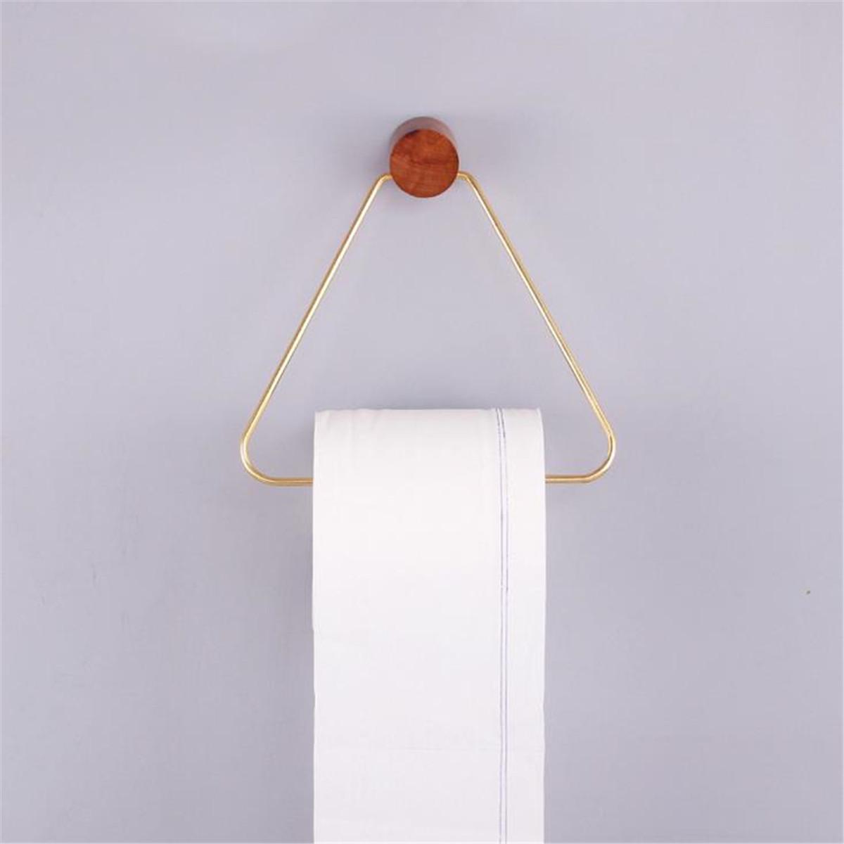Triangle Туалетная бумага Полотенце Держатель для полки Ретро настенный крепеж для хранения ткани Рулонная стойка Ванная комната - 1TopShop
