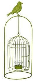 Изделие декоративное в виде клетки для птиц, комплект из 4-х шт. зеленый