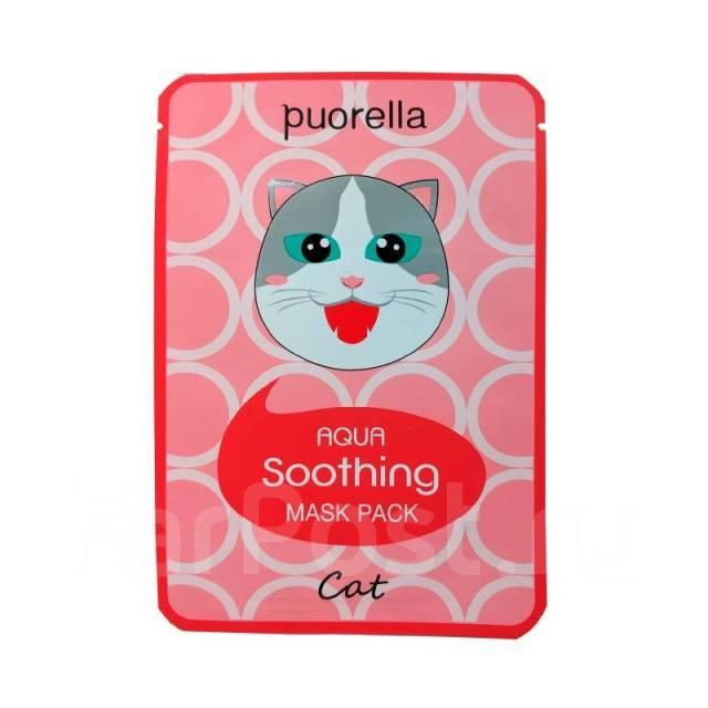 Увлажняющая тканевая маска Baroness Aqua Soothing Mask Pack Cat