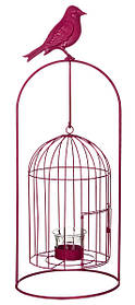 Изделие декоративное в виде клетки для птиц, комплект из 4-х шт. розовый