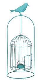 Изделие декоративное в виде клетки для птиц, комплект из 4-х шт. синий