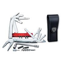 Victorinox Викторинокс нож мультитул Swisstool Spirit Plus 38 предметов 105 мм чехол коричневая кожа