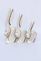 Семья кроликов белых (23, 20 ,15 см)