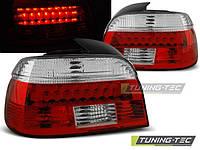 Задняя тюнинговая оптика BMW E39 09.95-08.00 RED WHITE LED