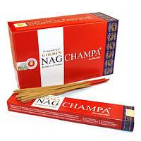 Ароматические палочки Golden Nag Champa / Золотистая Наг Чампа