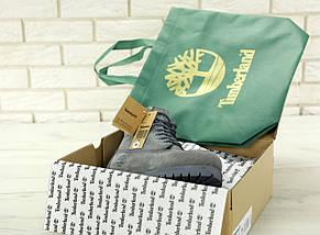Мужские (женские) зимние ботинки Timberland 6 inch Grey с натуральным мехом, фото 2
