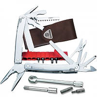 Victorinox Викторинокс нож мультитул Swisstool Spirit Plus II 38 предметов 105 мм чехол коричневая кожа