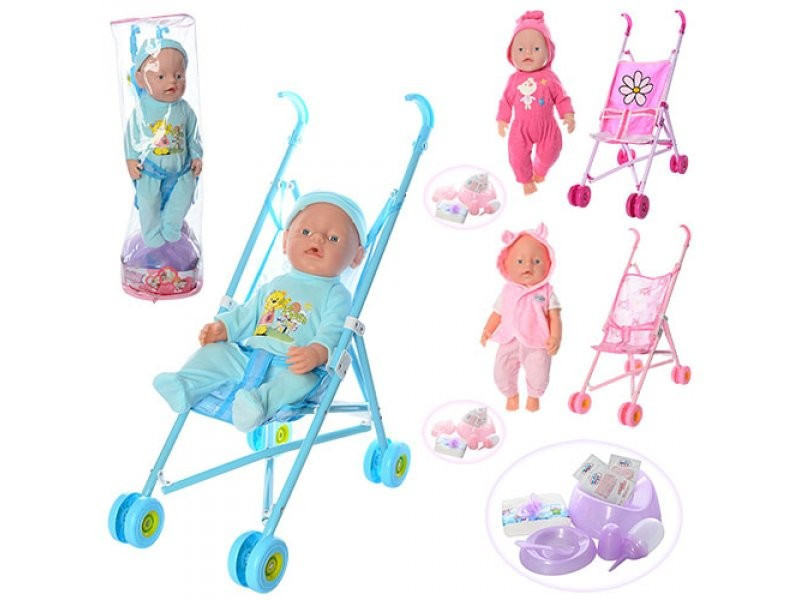 Пупс-лялька с коляской