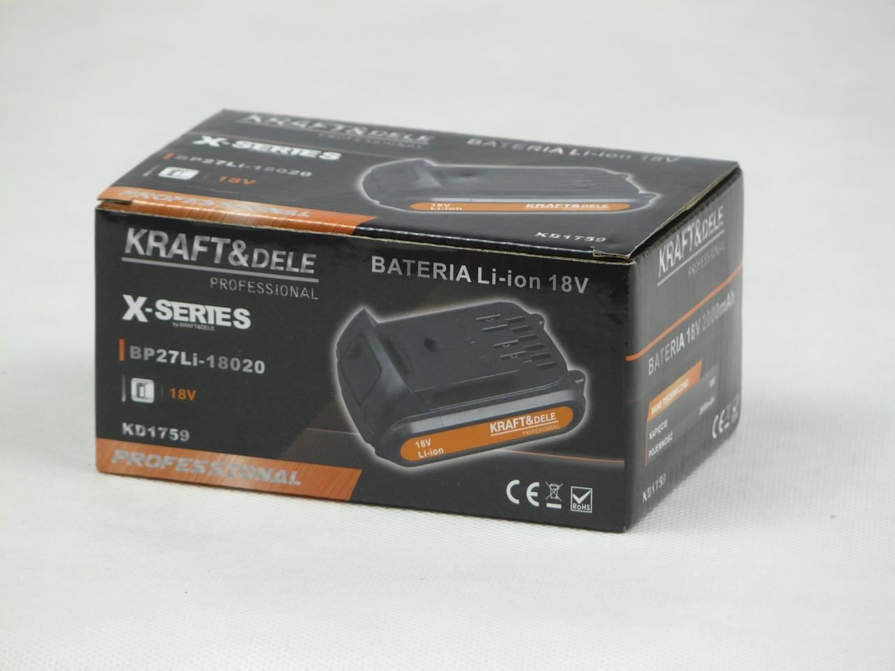 Аккумуляторная батарея KRAFT&DELE PROFESSIONAL KD1759