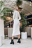 Женское белое вязаное платье-миди , фото 3