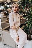 Женское вязаное платье косичка (3 цвета), фото 3