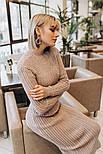 Женское вязаное платье косичка (3 цвета), фото 7