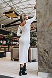 Женское платье-миди из ангоры с вырезом на спине (2 цвета), фото 5
