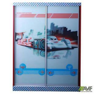 Шкаф-купе Тачки 2дв. Дизайн Дисней Тачки Сю Тодороки гонки AMF