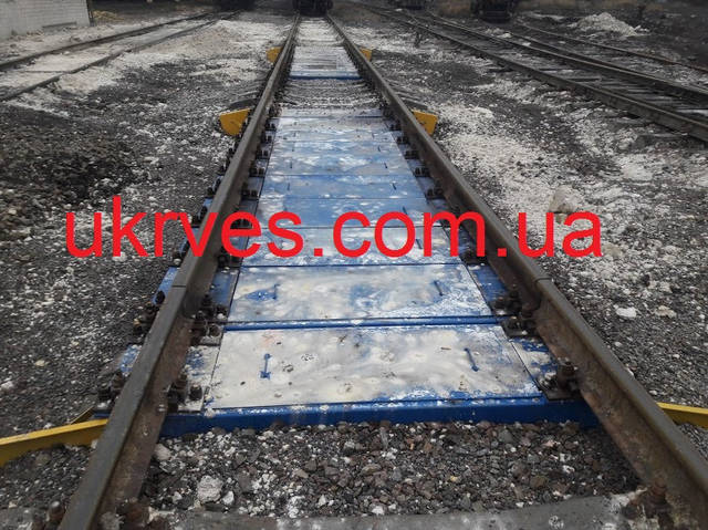 Весы установлены на существующий путь, без проведения бетонных работ.