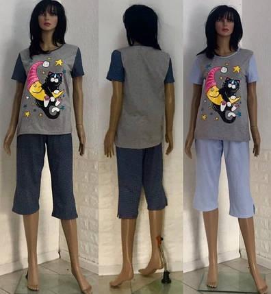 Батальная пижама с бриджами Кот на луне, фото 2