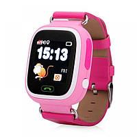 Умные детские часы Smart Baby Watch Q90 с GPS трекером розовые оригинал